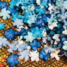 Flowers mulberry paper for Craft & D.I.Y 100 Mixed Blue Tone & White 2 Free 1