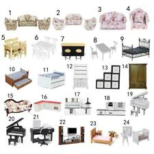 Vintage 12th Dollhouse Miniature Sofa/Bed/Table/Chair/Cabinet/Piano/TV/Computer