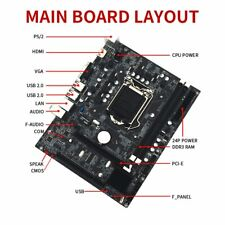 For Intel H55 Socket LGA 1156 MicroATX Computer Motherboard DDR3 Mainboard,GT