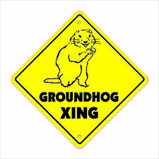 Groundhog Crossing Sign Zone Xing ground hog day puxatawny phil