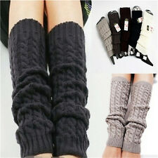 Womens Winter Knit Crochet Knitted Leg Warmers Legging Boot Cover Hot Fashion BH