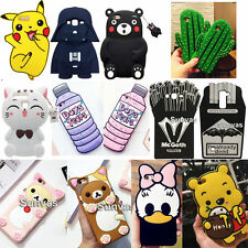 3D Cute Animals Cartoon Soft Silicone Phone Back Case Cover For Various Phones