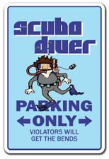 SCUBA DIVER Novelty Sign diving fins snorkel mask gift aqualung spearfishing