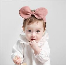 Rabbit bunny ears baby girls kids bow headbands hair head bands accessories for