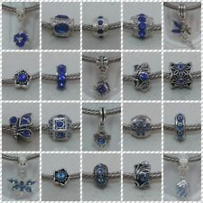 ~ Royal Blue/ Blue Style Rhinestone Charms ~ FOR CHARM BRACELETS ~ Organza Bag ~
