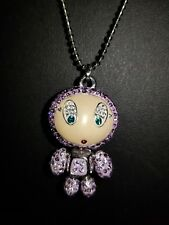 "Swarovski Lavender Crystal Urban Beat ""Erica"" Alien Girl Necklace"