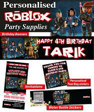 Personalised Roblox Birthday Party Banner Decorations