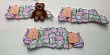 3D- U Pick - BE8 Girl Boy Twins Sleeping Bear Scrapbook Card Embellishment