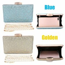 Women Lady Sequined Scale Purse Evening Party Handbag Clutch Crystal Chain Bag