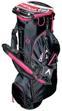 NEW CALLAWAY GOLF HYPER-LITE ZERO DOUBLE STRAP STAND CARRY BAG, BLACK-RED-WHITE