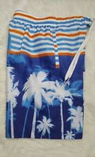 Mens Swimming Trunks Board Shorts Orange Blue White Original Deluxe Small Medium