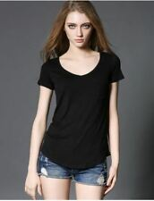 Women 4 Color Fashion All Match V Neck Short Sleeve Summer New Arrival Blouse