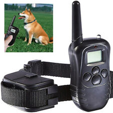100LV Dog Collar LCD Pet Training Electric Shock Vibration With Remote US STOCK