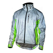 Showers Pass Men's Hi-Viz Torch Cycling Jacket w//Red LED Beacon - 1121 (Silver