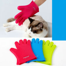 Waterproof Pets Dogs Cats Grooming Glove Dirt Hair Fur Removal Remover Brush