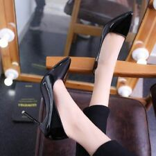 Women Pu Leather High Heels Pointed Toe Pumps Shoes Size 10cm/7cm/4cm