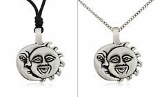 Sun and Moon Ying Yang Silver Pewter Charm Necklace Pendant Jewelry