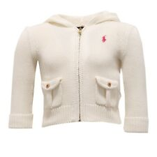 3461V cardigan bimba RALPH LAUREN full zip avorio sweater cotton girl kid