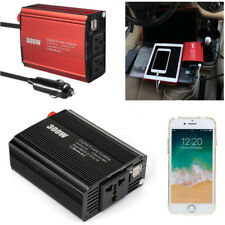 300W Car Power Inverter DC 12V to AC 110/220V Charger Converter Dual USB W/ Wire