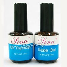 Nail Art 14ml 0.5oz Top Coat Base UV Gel Acrylic Polish Gloss Guard Glaze Tip