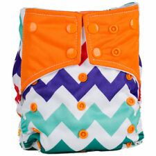 Reusable One Size Color Snaps Pocket Cloth Diapers Baby Nappy + 1 insert