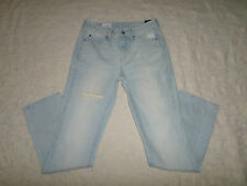 GAP 1969 JEANS WOMENS SIZE 24 REAL STRAIGHT MID-RISE DESTRUCTED STRETCH NEW NWT