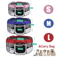 8 Panel Pet Dog Playpen Exercise Cage Puppy Enclosure Fence Rabbit Play Tent WK