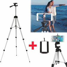 Professional Camera Tripod Stand Mount + Phone Holder for Cell Phone iPhone ON