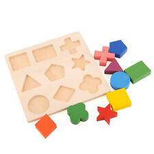 Puzzle Montessori Puzzle Jigsaw Wooden Kids Baby Learning Geometry Educational
