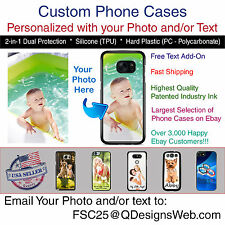 Personalized Custom Photo Selfie Logo Phone Case Gift for iPhone Samsung LG HTC