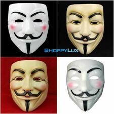 V-Vendetta Cosplay Mask Anonymous Halloween Guy Fawkes Party Adult Fancy Masks