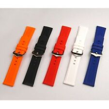 Waterproof Silicone Rubber Watch Band Strap Belt Deployment Buckle 19/21/24mm