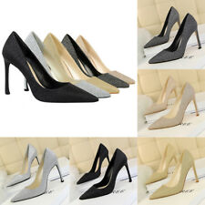 Fashion Artificial PU Stilettos Pionted Toe High Heels Shallow Pumps Women Shoes