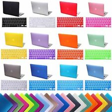 """Rubberized Hard Case for Macbook Air 13/11 Pro 13/15 Retina 12"""" + Keyboard Cover"""