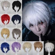 Hot Style Short Pixie Cosplay Wigs Women Mens Straight Hair Wig Costume Party T0