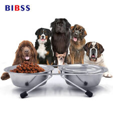 Pet Dog Bowls Stainless Steel Puppy Travel Feeding Feeder Double Food Cat Bowl