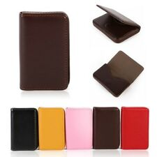 Women Pocket Business ID Credit Card Holder Case Wallet for Card Box  PU Leather