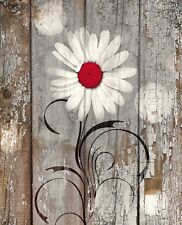Rustic Home Decor Wall Art, Daisy Flower, Farmhouse Wall Decor Matted Picture
