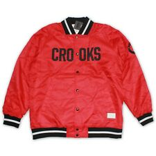 Crooks & Castles Teamster Woven Stadium Jacket in True Red Size XL NWT ~ Last 1