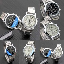 Mens Watch Fashion Luxury Stainless Steel Sports Military Analog Wristwatch