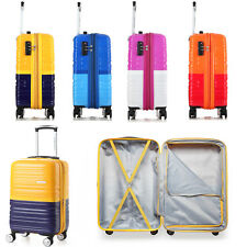 "4 Colors 20"" Luggage Spinner Wheels Trolley Suitcase TSA Lock Travel Carry On"