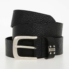 DIESEL New Man 40mm Black Leather B-LOOPP Belt Made in Italy NWT Original