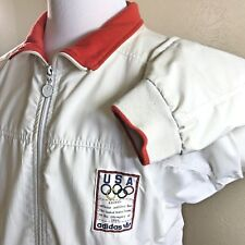 Vintage 1988 Olympics  USA Team  Adidas Mens White Jacket - no size, approx XL
