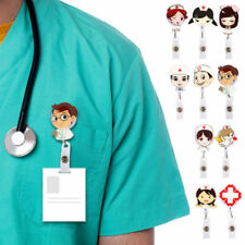 1pc Retractable Badge Reel Student Nurse Exhibition ID Name Card Badge Holder