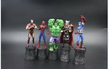 Marvel Chess Collection Avengers Thor Iron Man PVC Figure Collectible Model Toy