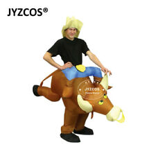 Bull Rider Inflatable Costume Blow Up Suit Men Women Party Gift Cosplay Outfit