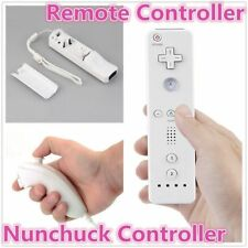 Remote And Nunchuck Controller Set For Nintendo Wii Game + Strap For Remote KI