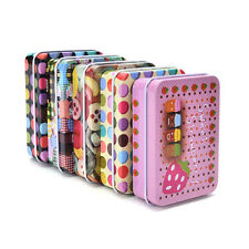 Tin Metal Container Small Rectangle Lovely Storage Box Case Pattern BH