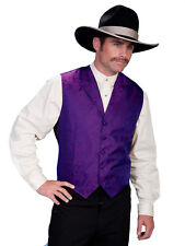 Scully Rangewear Mens Purple Polyester Paisley Old West Vest