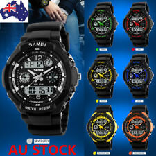 Men Women Kids LED Digital Watch Military Quartz Sports Waterproof Wristwatch